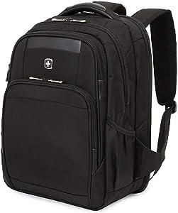 SWISSGEAR 6392 ScanSmart Ultra Premium Large Padded Laptop TSA Friendly Backpack - Black on Black