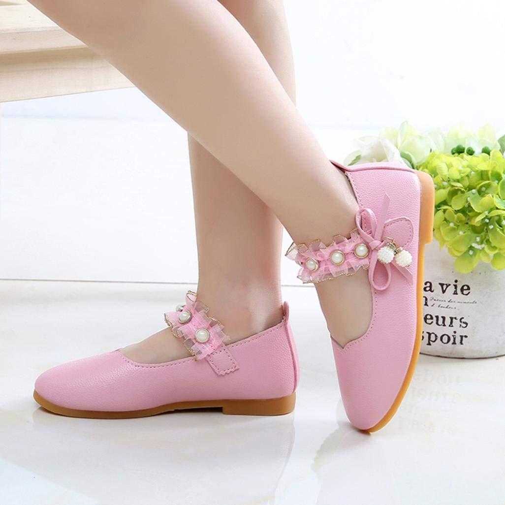 F/ête Semelle en Caoutchouc Chaussures en Cuir pour Filles BZLine Enfants Perle Pendentif Chaussures pour la c/ér/émonie//Mariage