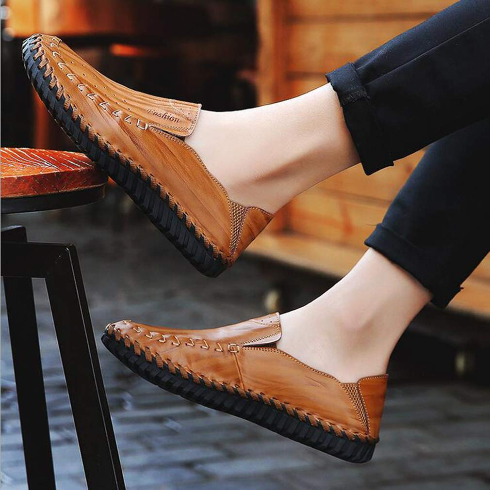 Hy Herrenschuhe, Spring Fall Leder Formal Formal Formal Business Schuhe, Flat Comfort Driving schuhe, Loafers & Slip-Ons Lazy Schuhe Peas Schuhe Office & Karriere,c,39 8fb499