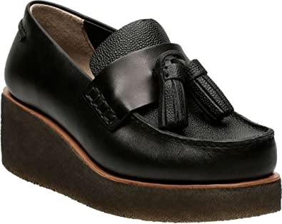Clarks Peggy Grace Black Leather Women