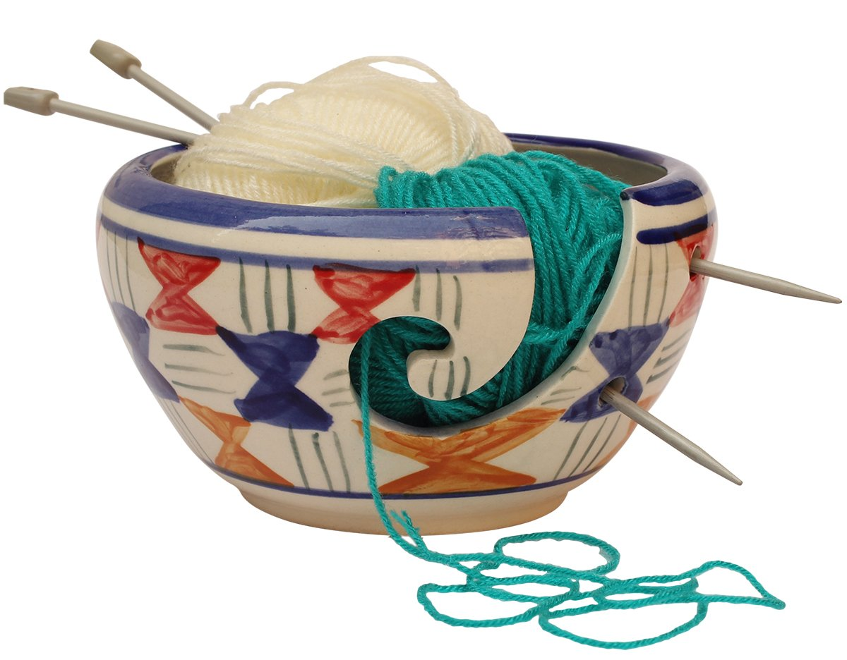 ARB Exports Big Sale Offer 6 Wooden Yarn Bowl Decor with Hand Craved Bulbs//Crochet Holder//Hand Crafted Yarn Storage Bowl//Crochet /& Knitting Accessories by ARB Exports
