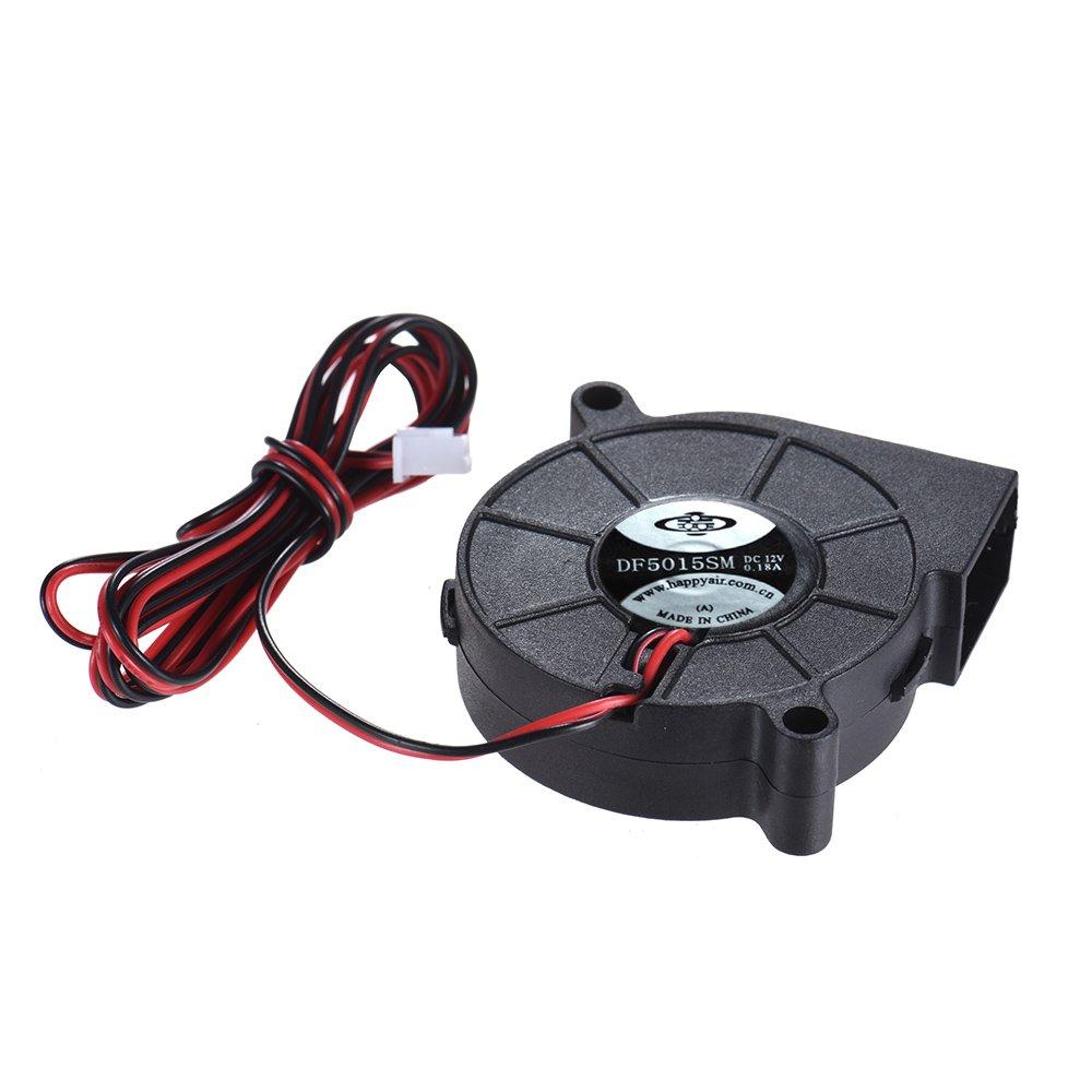 12V DC 50mm Blow Radial Fan Cooling Hot End Extruder for RepRap i3 3D Printer GL