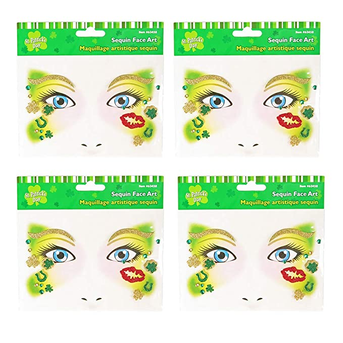 5x Irish Day//St.Patrick/'s Day Shamrock Tattoo Sticker Face Decor Waterproof #UK
