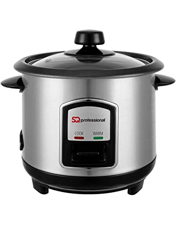 6c27657626e SQ Professional Stainless Steel Rice Cooker 0.8L 350W Silver