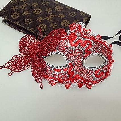 Tery Máscara de máscara Veneciana de la Princesa Mariposa para Disfraz o Fiesta, plástico,