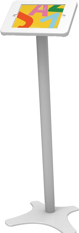Beelta Tablet Floor Stand Kiosk - 360 Swivel for 10.2 iPad 7th/8th Generation ,Anti-Theft,Key Lock,Metal,White,BSF301T
