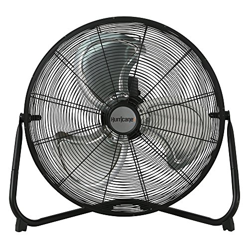(Hurricane Floor Fan - 20 Inch | Pro Series | High Velocity | Heavy Duty Metal  Floor Fan for Industrial, Commercial, Residential, and Greenhouse Use - ETL Listed, Black)