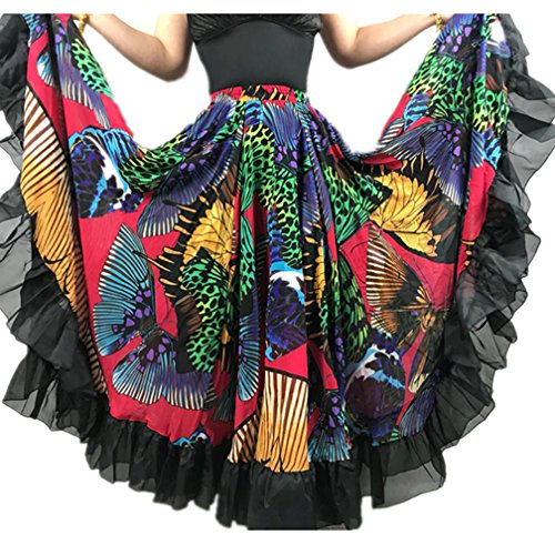 25 Yard Skirt Gypsy Tribal Cotton Skirts Belly DanceDancing  ATS Black Orange