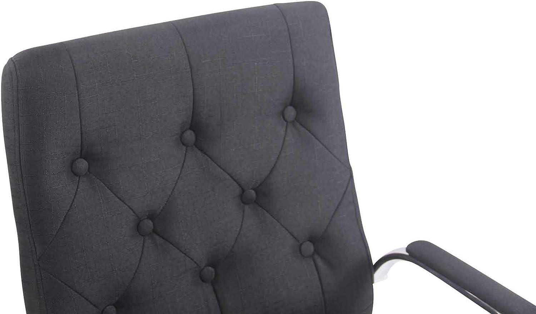 Couleur : Gris Fonc/é Fauteuil de Travail Ergonomique CLP Fauteuil de Bureau Leroy V2 en Tissu Chaise de Bureau Rembourr/ée R/églable en Hauteur