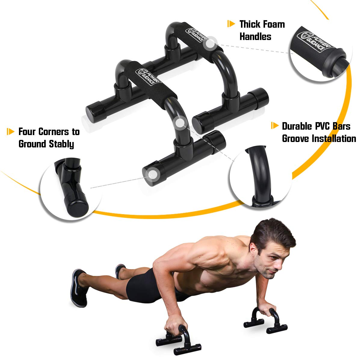 Sportplus Rotating Push Up Handles Complete Set with Accessories Max User Weight 120 kg