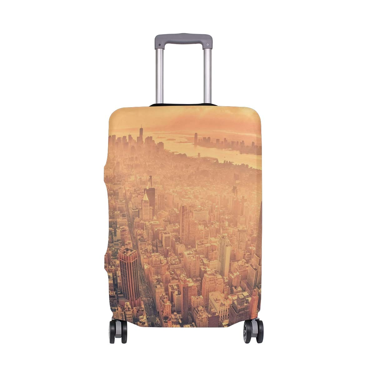 USA New York Skyscrapers City Street Sun Rays suitcase cover elastic suitcase cover zipper luggage case removable cleaning suitable for 29-32 trunk cover