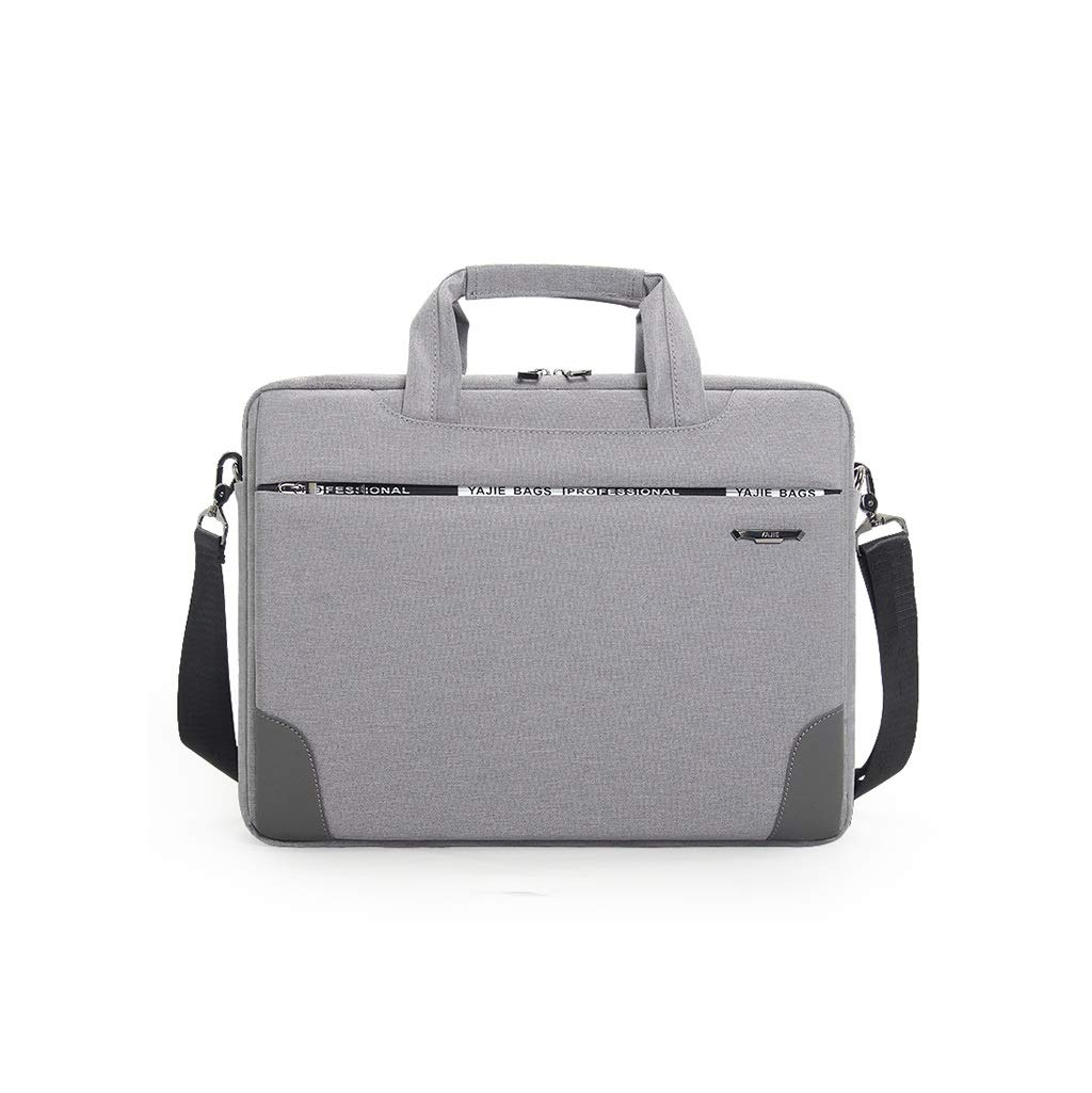QSJY File Cabinets Laptop Shoulder Canvas Messenger 14 Inches Notebook 3 Colors 39×28×7CM (Color : Gray, Size : 39×28×7CM) by QSJY File Cabinets