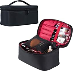 Travel Makeup Bag (20 cm) Professional Cosmetic Makeup Bag Organizer with Adjustable Dividers for