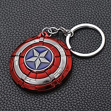 Los Vengadores Capitán América Llavero Superhéroe Escudo ...