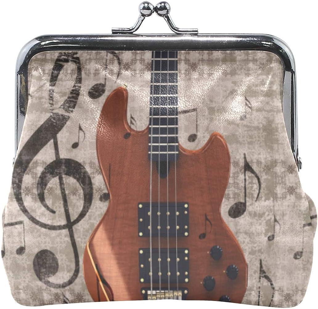 XiangHeFu Monedero de mujer Monedero Instrumento musical Guitarra ...