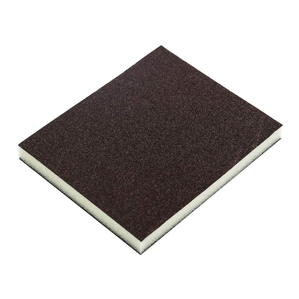 Cyful 120# Grit Sponge Emery Cloth Sandpaper Blocks Buffing Diamond Polishing Pads Hand Sanding Tool-6pcs