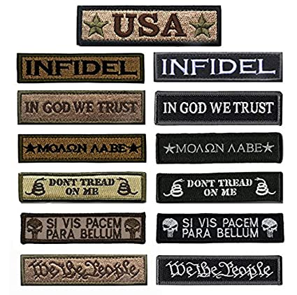 Antrix Bundle 13 Pieces Great Value Tactical Morale Patch Full Embroidery  Military Patches Set for Caps 8f1d533505c