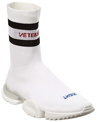 ef3248ec612996 Amazon.com | Vetements Sock Sneaker, 41, White | Shoes
