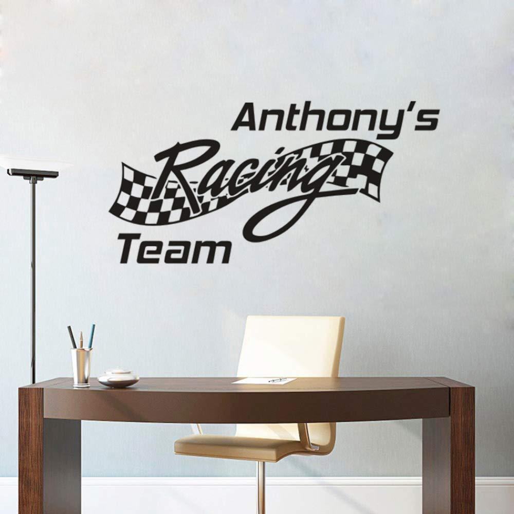 zqyjhkou Car Racing Team Sign Pegatinas de Pared Nombres de ...