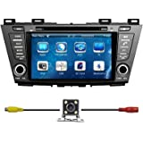 TamYu 8 Inch Touchscreen Monitor Car GPS Navigation System for MAZDA 5 2010 2011 2012 2013 2014 Car Stereo DVD Player +Free Backup Rear View Camera+Free US Map