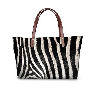 Amazon.com  Mumeson Zebra Print Trendy Womens Top Handle Satchel Handbags  Designer Tote Purse Shoulder Bag  Shoes 4172436d68f52