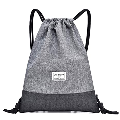 167dba6f1cdd Image Unavailable. Image not available for. Color: Peicees Sport Gym Sack  Drawstring Backpack Bag Sackpack for Men Women(Light ...