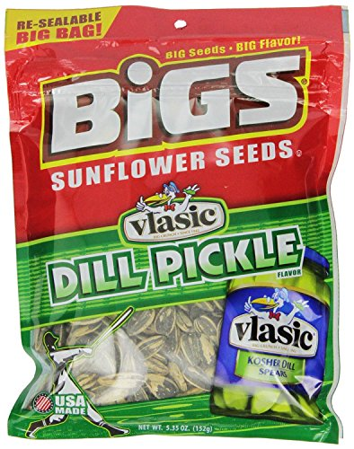 BIGS Vlasic Dill Pickle Sunflower Seeds, 5.35-Ounce Bags (Pack of 12)