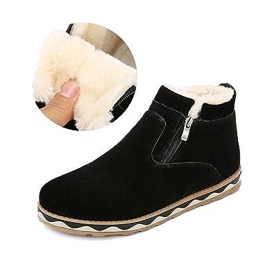 Velvet Boots for Men & Women British Style Suede Snow Boots Winter Flat Platform Warm Shoes