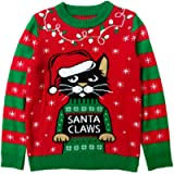 Tstars Santa Claws Cat Ugly Christmas Sweater Gift for Boy/Girl 6yr - 12y Kids Sweater