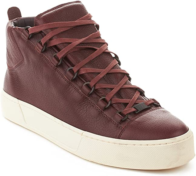 Balenciaga Men's Arena Leather High Top Sneaker Shoes