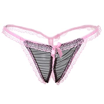 pinstripe lingerie Crotchless