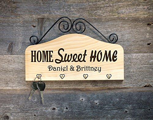 (Personalized Key Hook Key Holder - Home Sweet)