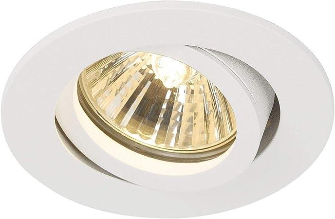 SLV Foco empotrable de techo NEW TRIA 68, redondo, GU10, 50 W, color blanco