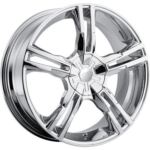 Pacer Ideal 16 Chrome Wheel / Rim 5×105 & 5×4.5 with a 42mm Offset and a 72.62 Hub Bore. Partnumber 786C-6724