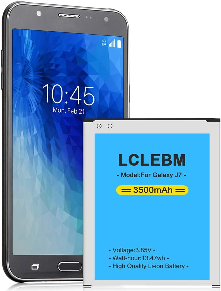 LCLEBM Galaxy J7 Battery, (Upgraded) 3500mAh Replacement Battery for Samsung Galaxy J7 SM-J700 (2015 Ver), J700T, J700H, J700M, J700T1, J700P, EB-BJ700BBC/EB-BJ700BBU [24 Month Warranty]