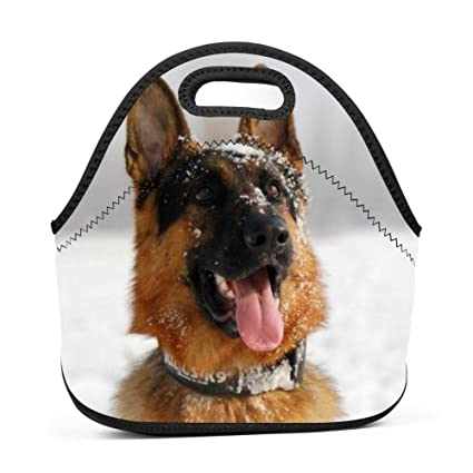 77b5bc2f8f3e Amazon.com - SLBDBDMH Lunchbox Lunch Bag German Shepherd Dog Handbag ...