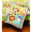 Summer Infant 4 Piece Monkey Jungle Collection Crib Set, Neutral