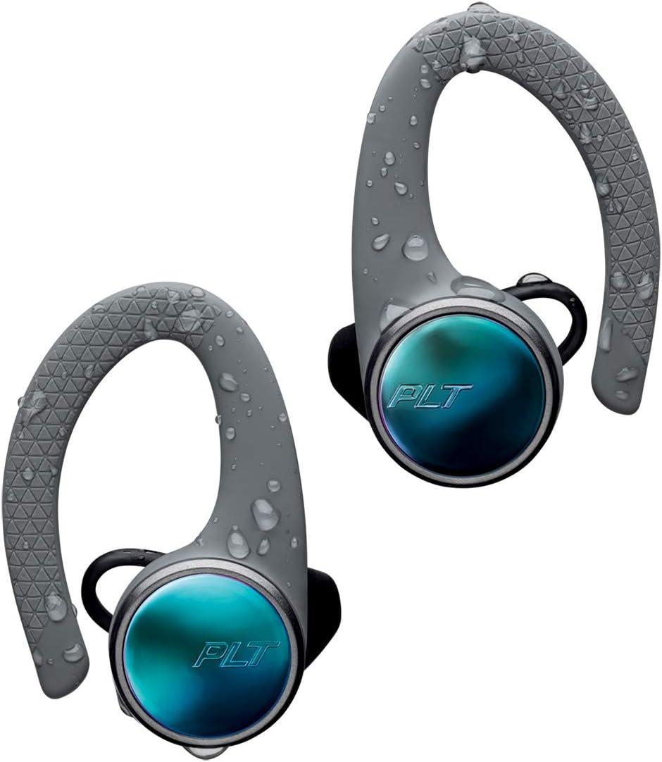 Plantronics BackBeat Fit 3100 Bluetooth Auricular Deportivo, En la Oreja, IP57, con Funda de Carga, Gris, Uni