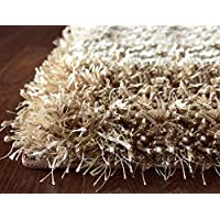 iCustomRug Mercedes Best Indoor Fluffy Shag Area Rug 3ft0in x 4ft6in (3x5) In Taupe