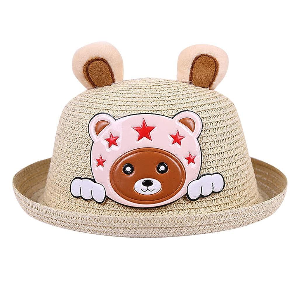 Moneycom Casquette Bucket Hat Soleil Protection Voyage Anti UV bob Mignon Chic Plage /Ét/é b/éb/é Chapeau Bonnet Enfants Respirant Dessin anim/é Lapin Chapeau Enfants Oreilles Paille Chapeaux
