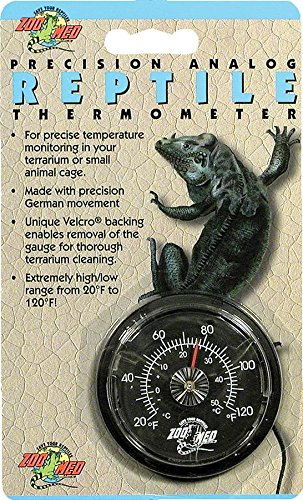 Zoo Med Analog High Range Reptile Thermometer Precision Analog Reptile Thermometer