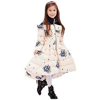 Amazon.com: FREE FISHER Girls Dress Coat Contrast Color Quilted Coat Long Bubble Puffer Jacket Flower Hem Parka Winter Outwear: Clothing