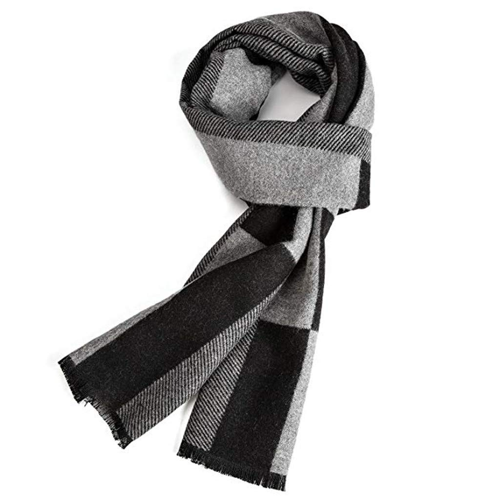 Warm Autumn and Winter Scarf, EONPOW Mens Classic and Elegant Plaid Scarves EONPOW Mens Classic and Elegant Plaid Scarves (THREE COLORS)
