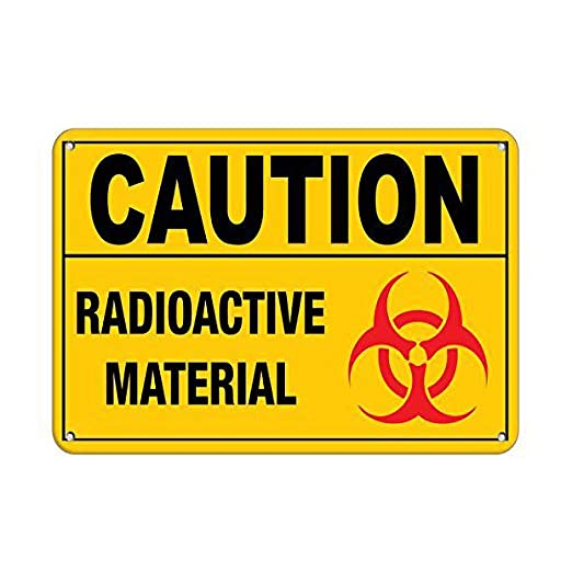 Tarfy Caution Radioactive Material Hazard Sign Hazard Labels ...