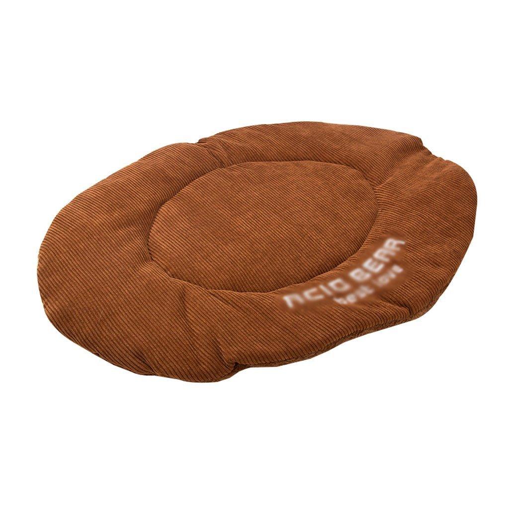 BROWN 4840cm BROWN 4840cm Premium Dog's Bed, Pet Bed Dog Mat Pet Mat Small Medium Pet Sleeping Mat Puppies Blanket Cat Dog Nest Bite Resistance Pet Supplies Rest mat (color   Brown, Size   68  65cm)