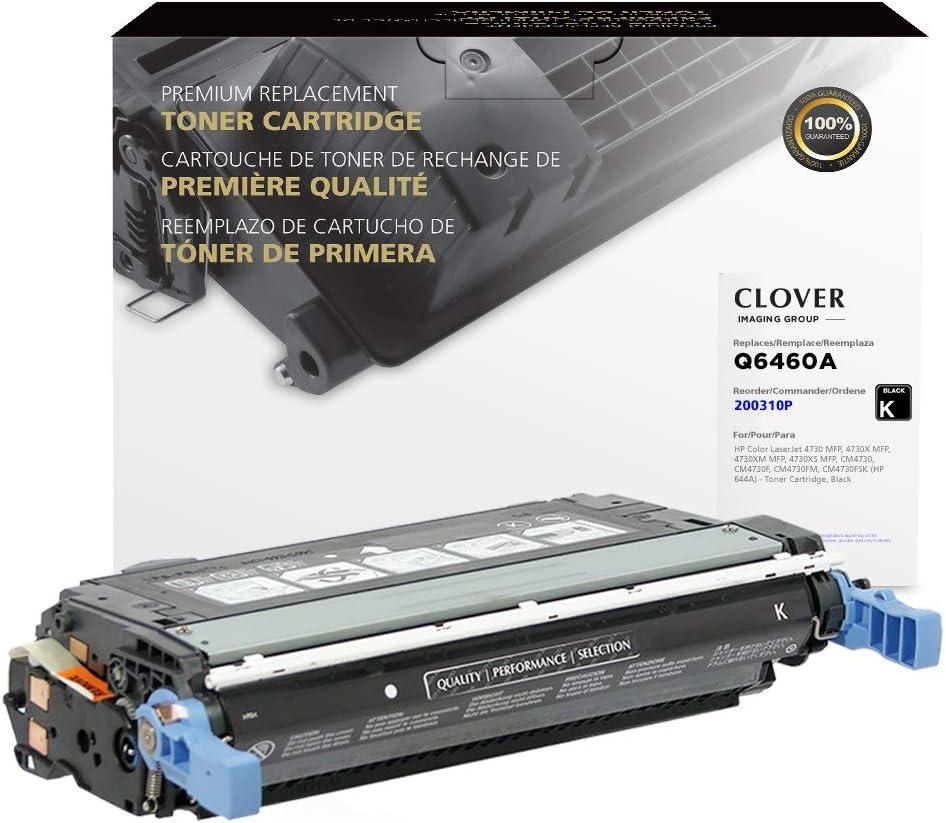 Clover Remanufactured Toner Cartridge for HP 644A Q6460A   Black