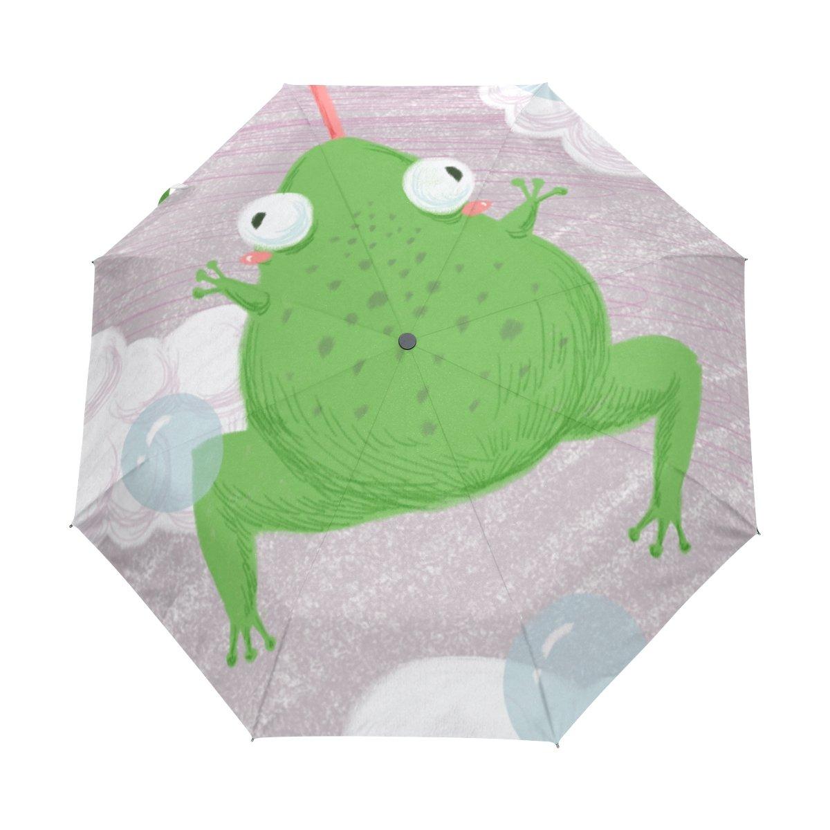 senya Saobao 防風 防雨 トラベル傘 自動開閉 折りたたみ式カエル ポータブル 折りたたみ式 日傘 B07FFRVQ1F