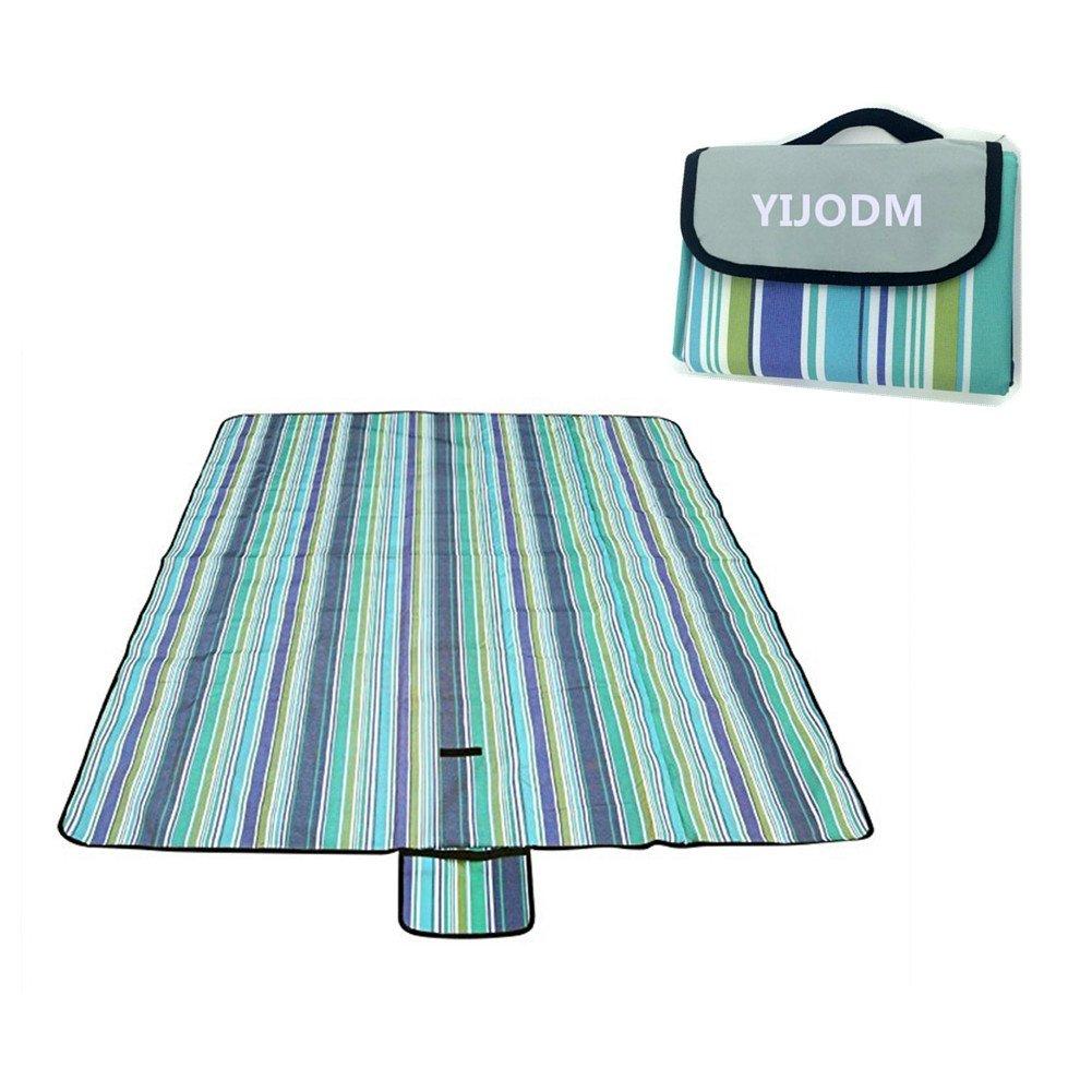 YIJODM Manta de picnic de 150 x 200 cm, resistente al agua, ideal para la playa, acampada, viajes, hierbas, impermeable, a prueba de arena