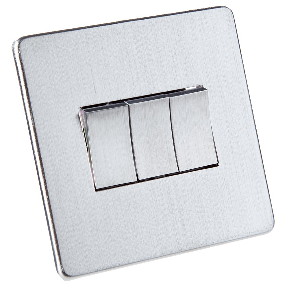 Screwless Flat Plate Light Switch Stainless Steel *EXCLUSIVE PROMOTION 2 FOR 1