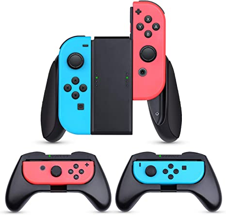 Nintendo Switch JoyCon Grips 3 Piezas, HEYSTOP Mando Joycon Grip Kit, Funda Protector Handle Kits para Mandos JoyCon Set de Nintendo Switch Controller: Amazon.es: Videojuegos